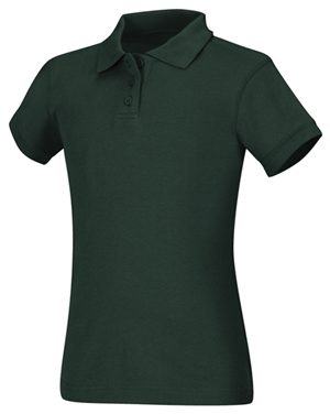 Classroom Uniforms Classroom Junior's Junior SS Fitted Interlock Polo Green