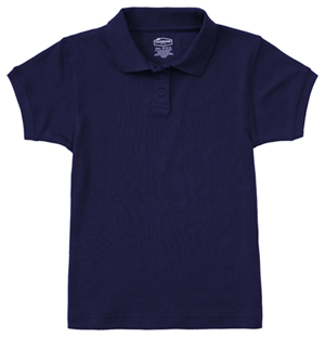 Classroom Uniforms Junior SS Fitted Interlock Polo SS Navy (58584-SSNV)