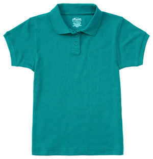 Classroom Uniforms Junior SS Fitted Interlock Polo Teal (58584-TEAL)