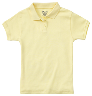 Classroom Junior's Junior SS Fitted Interlock Polo Yellow