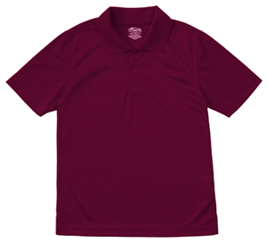 Classroom Uniforms Youth Unisex Moisture-Wicking Polo Shirt Burgundy (58602-BUR)