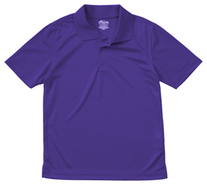 Classroom Uniforms Youth Unisex Moisture-Wicking Polo Shirt Dark Purple (58602-DKPR)