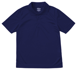 Classroom Uniforms Adult Unisex Moisture-Wicking Polo Shirt SS Navy (58604-SSNV)