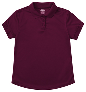 Classroom Uniforms Girls S/S Moisture Wicking Polo Burgundy (58632-BUR)