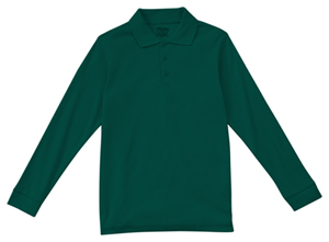 Classroom Uniforms Adult Unisex Long Sleeve Interlock Polo SS Hunter Green (58734-SSHN)
