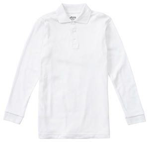 Classroom Uniforms Adult Unisex Long Sleeve Interlock Polo SS White (58734-SSWT)