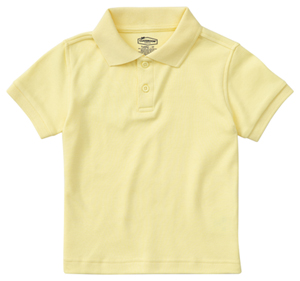 Classroom Uniforms Classroom Preschool Preschool Unisex SS Interlock Polo Yellow
