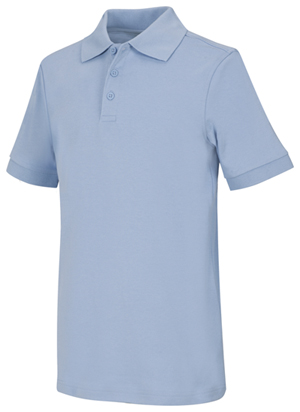Classroom Uniforms Youth Unisex Short Sleeve Interlock Polo SS Light Blue (58912-SSLB)