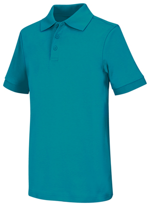 Classroom Youth Unisex Short Sleeve Interlock Polo (58912-TEAL) (58912-TEAL)