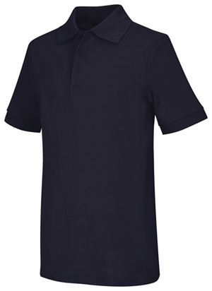 Classroom Uniforms Adult Unisex Short Sleeve Interlock Polo Dark Navy (58914-DNVY)