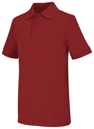 Classroom Uniforms Adult Unisex Short Sleeve Interlock Polo Red (58914-RED)