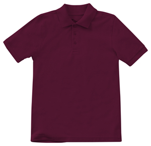 Classroom Uniforms Preschool Unisex Short Sleeve Pique Polo Burgundy (58990-BUR)