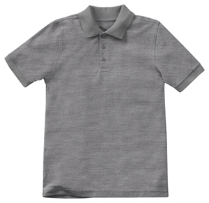 Classroom Uniforms Preschool Unisex Short Sleeve Pique Polo Heather Gray (58990-HGRY)