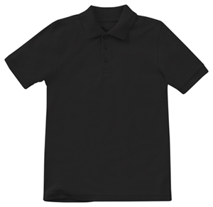 Classroom Uniforms Preschool Unisex Short Sleeve Pique Polo SS Black (58990-SSBK)