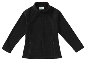 Classroom Girls Fitted Polar Fleece Jacket (59102-BLK) (59102-BLK)