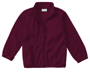 Classroom Uniforms Adult Unisex Polar Fleece Jacket Burgundy (59204-BUR)