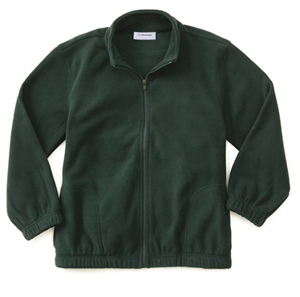 Classroom Uniforms Adult Unisex Polar Fleece Jacket Hunter Green (59204-HUN)