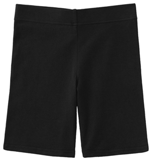 Classroom Uniforms Juniors Bike Shorts Black (59404-BLK)