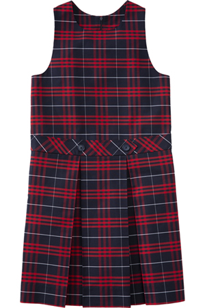 Classroom Uniforms Drop Waist Jumper Model 94 PLAID 37 (5PC4941-P37)