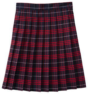 Classroom Uniforms Knife Pleat Skirt Model 32 PLAID 37 (5PC5323A-P37)