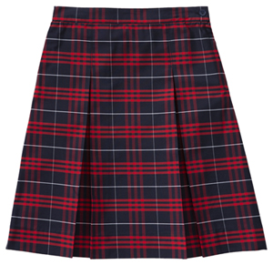 Classroom Uniforms Kick Pleat Model 34 PLAID 37 (5PC5342A-P37)