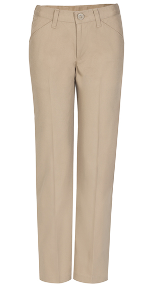 Real School Uniforms Girls Low Rise Pant Khaki (61073-RKAK)