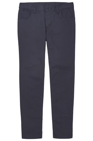 Real School Uniforms Girls 5-Pocket Stretch Skinny Pant Navy (61332A-RNVY)