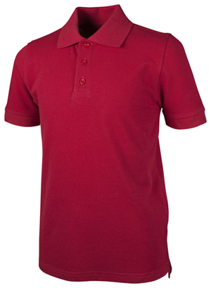Real School Uniforms Unisex Adult S/S Piuqe Polo Red (68114-RRED)