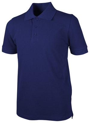 Real School Uniforms Short Sleeve Pique Polo Royal Blue (68114-RROY)