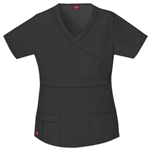 Dickies Mock Wrap Top Dark Pewter (817355-DKPZ)