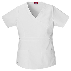 Dickies Gen Flex Women's Mock Wrap Top White