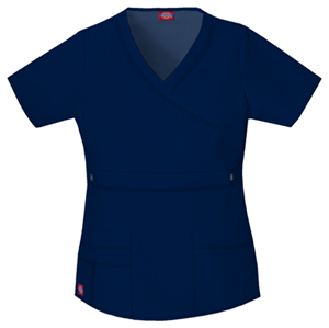 Dickies Gen Flex Women's Mock Wrap Top Blue