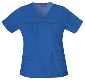 Dickies Gen Flex Women's V-Neck Top Blue