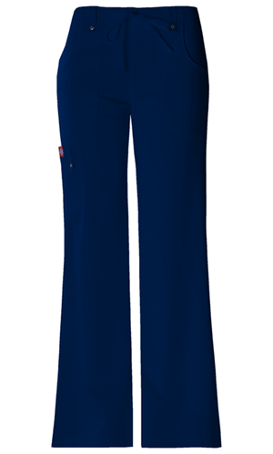 Xtreme Stretch Women's Mid Rise Drawstring Cargo Pant Blue