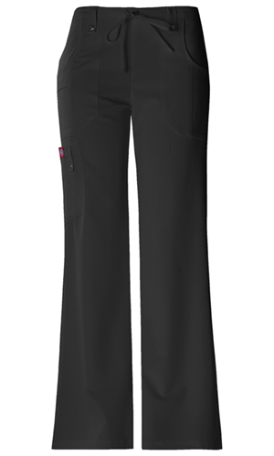 Dickies Xtreme Stretch Mid Rise Drawstring Cargo Pant in Black (82011-BLKZ)