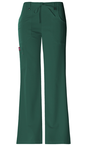 Dickies Xtreme Stretch Mid Rise Drawstring Cargo Pant in Hunter (82011-HTRZ)