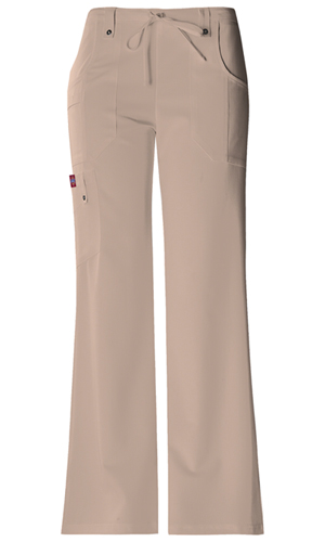Dickies Xtreme Stretch Mid Rise Drawstring Cargo Pant in Dark Khaki (82011-KHIZ)