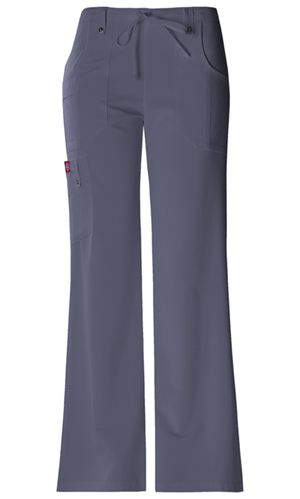 Xtreme Stretch Women's Mid Rise Drawstring Cargo Pant Grey