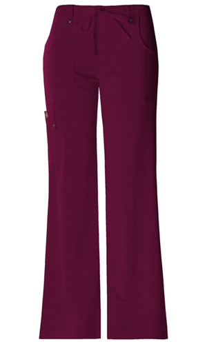 Dickies Xtreme Stretch Mid Rise Drawstring Cargo Pant in D-Wine (82011-WINZ)