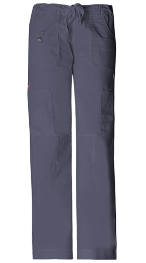 Gen Flex Women's Low Rise Drawstring Cargo Pant Grey