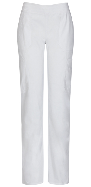 Dickies Mid Rise Moderate Flare Leg Pull-On Pant White (82204A-WHWZ)