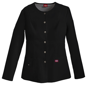 Dickies Snap Front Warm-Up Jacket Black (82310-BLKZ)