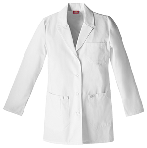 "Dickies Dickies Prof. Whites Women's 30"" Lab Coat White"