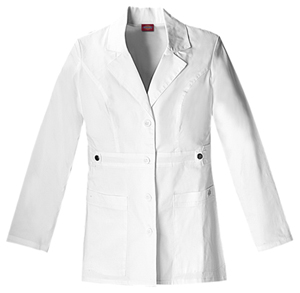 "Dickies Gen Flex Women's 28"" Lab Coat White"