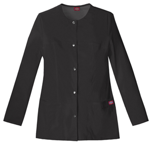 Dickies Gen Flex Women's Snap Front Warm-Up Jacket Black