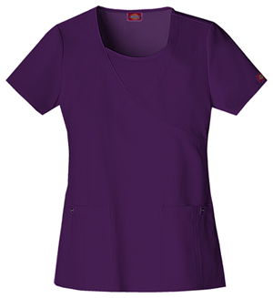 Xtreme Stretch Women's Mock Wrap Top Purple