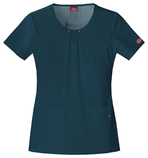 Dickies Xtreme Stretch Women's Round Neck Top Blue