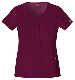 Dickies Xtreme Stretch Women's Round Neck Top Red