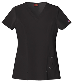 Xtreme Stretch Women's V-Neck Top Black