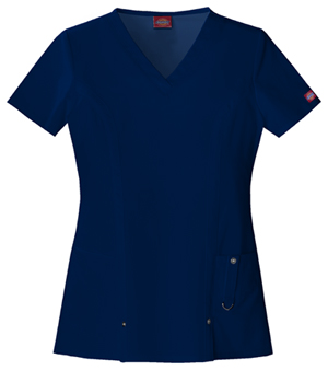 Dickies Xtreme Stretch Women's V-Neck Top Blue